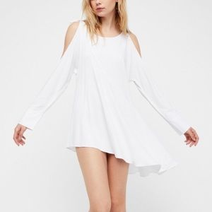 Free People Cold Shoulder Tunic Top Mini Dress